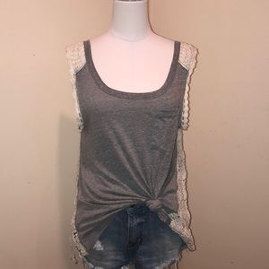 Free People Crochet knotted tank